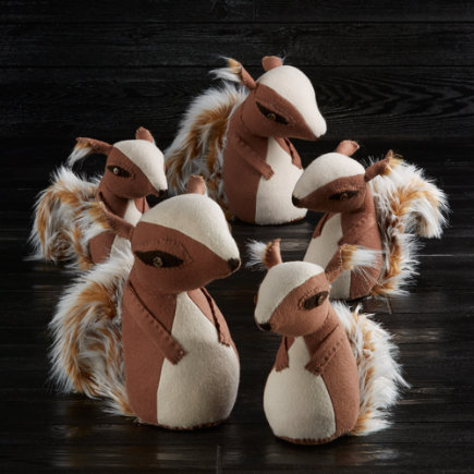 Set of 5 Squirrels