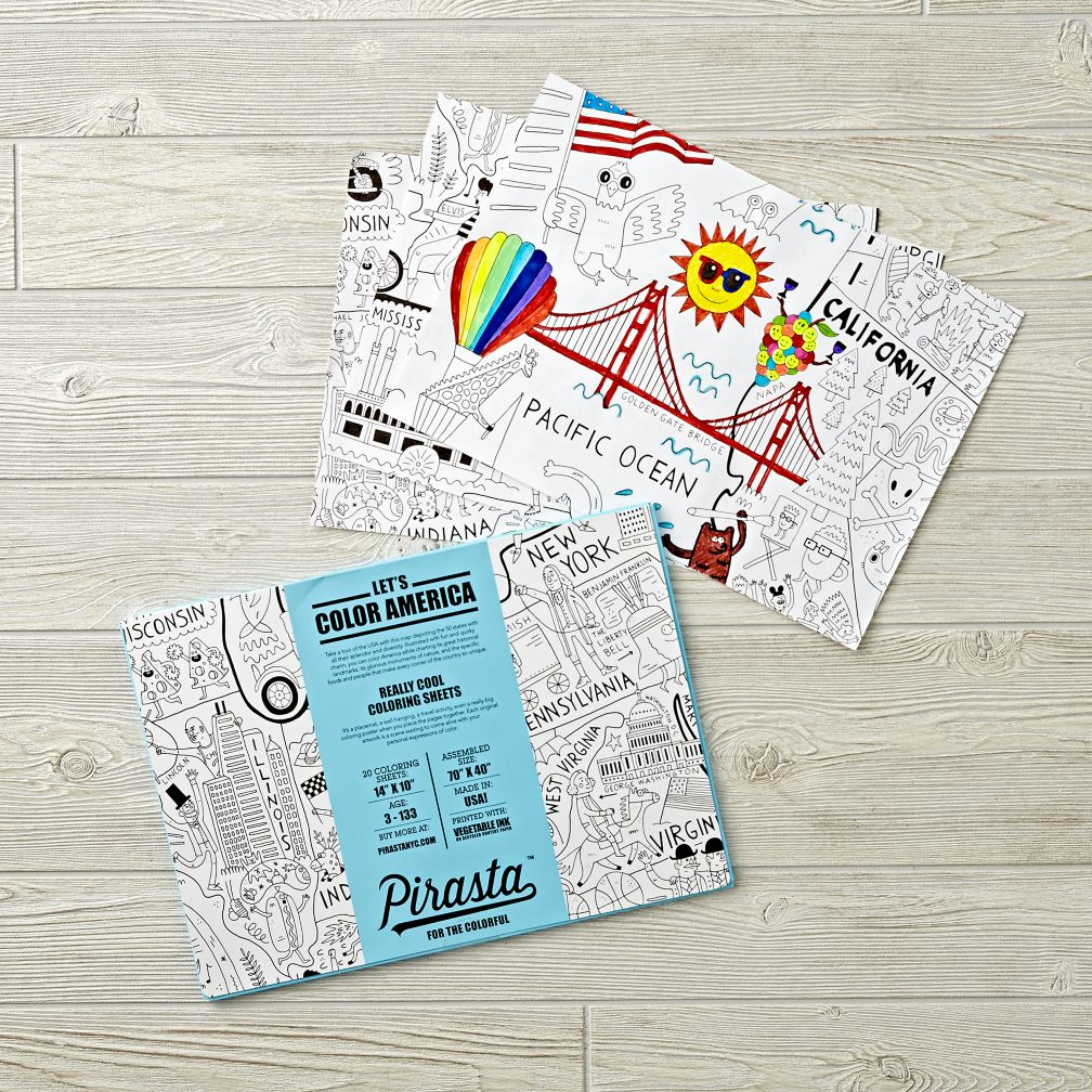 Let's Color America Coloring Sheets