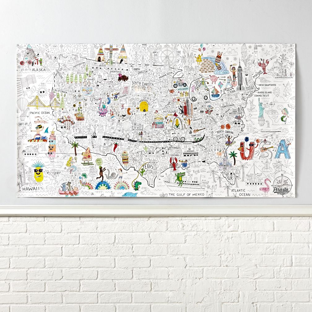 America Giant Coloring Poster