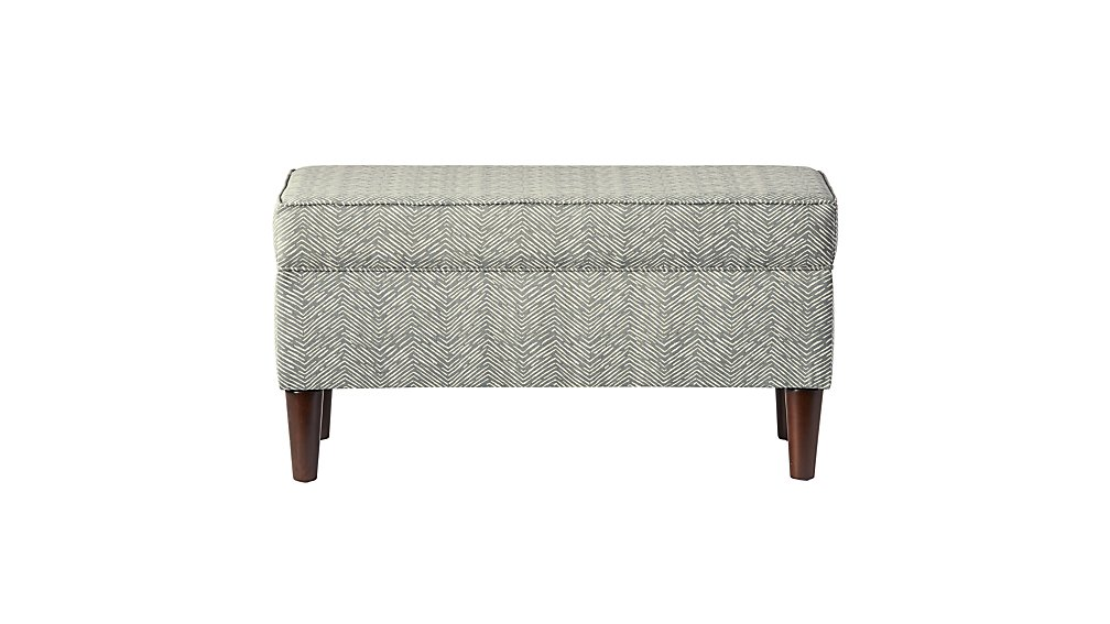 Upholstered Storage Bench (Cameron Pewter)