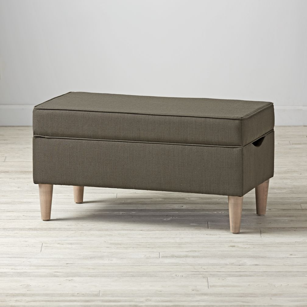 Upholstered Storage Bench (Lesisure Slate)