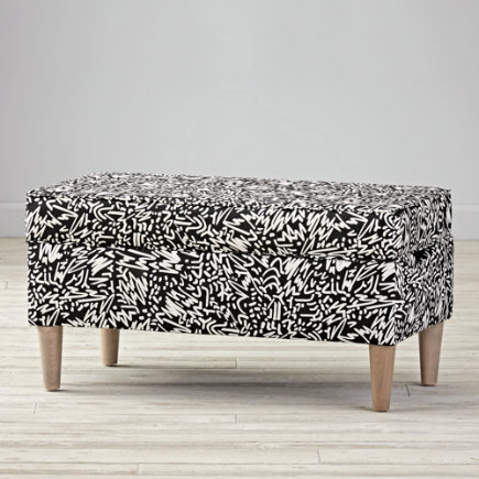 Pennywood Sketch Upholstered Storage Bench