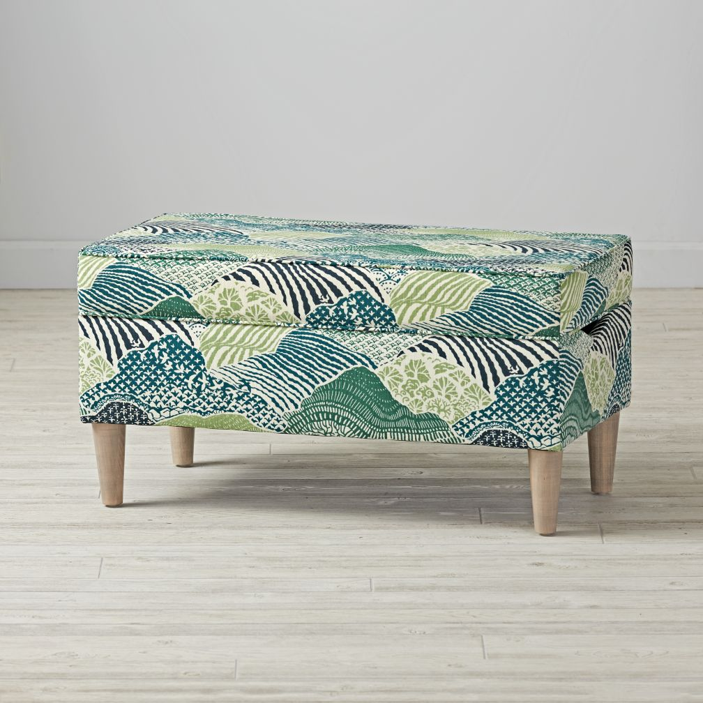 Upholstered Storage Bench (Windsor Park Palm)