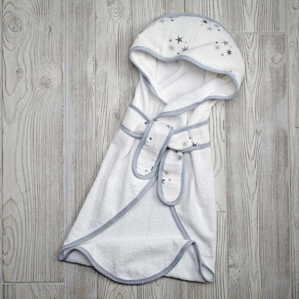 Star Bath Wrap (Grey)
