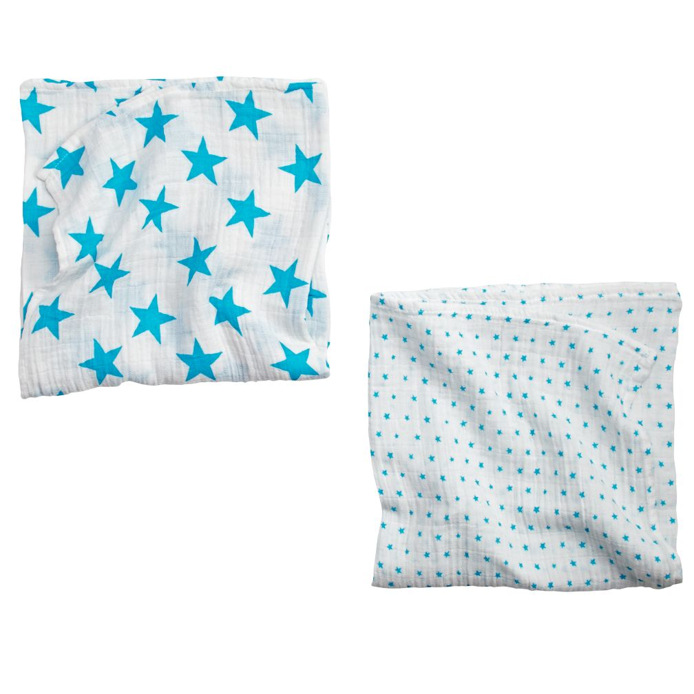 Star Swaddle Blankets (Blue)