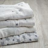 aden + anais Grey Star Swaddle Blankets (Set of 4)