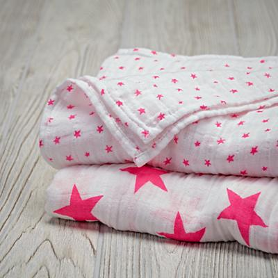 Star Swaddle Blankets (Pink)