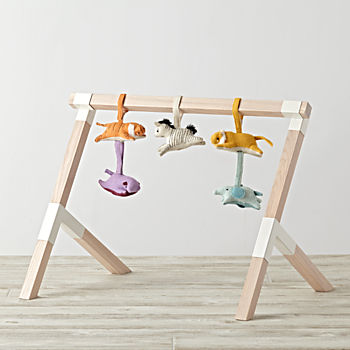 Trestle Baby Gym With Animal Rattles