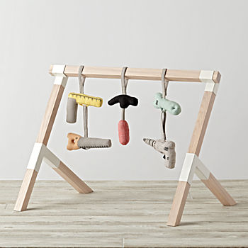 Trestle Baby Gym With Tools Rattles