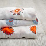 aden + anais Orange Print Silky Soft Swaddle Blankets (Set of 3)