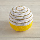 Yellow Eye Catching Knit Ball