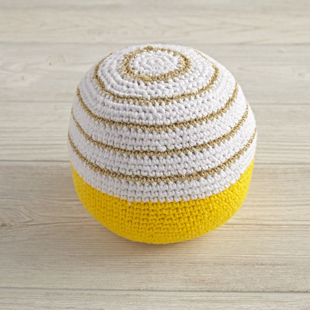 Eye Catching Knit Ball (Yellow)