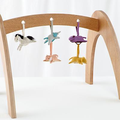 Natural Wee Workout Baby Gym (w/Set of 5 Animal Rattles)