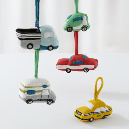 Knit Car Baby Rattles - Set of 5 Car Playtime Anytime Rattles