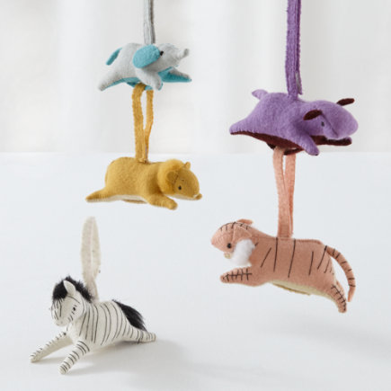 Knit Animal Baby Rattles - Set of 5 Animal Playtime Anytime Rattles