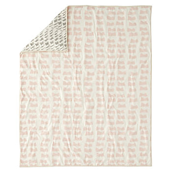 Daily Sketch Pink Baby Quilt