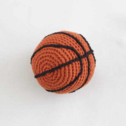 Basketball Knit Baby Rattle
