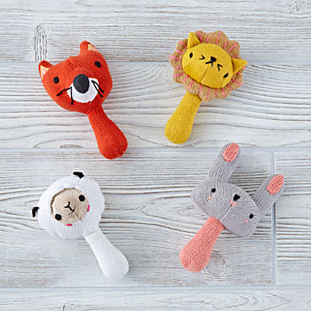 Love Handle Rattles Set of 4