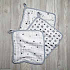 Grey Star Wash Up Washcloths Set of 3