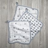 aden + anais Grey Star Wash Up Washcloths (Set of 3)