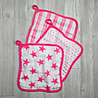 Pink Star Wash Up Washcloths Set of 3