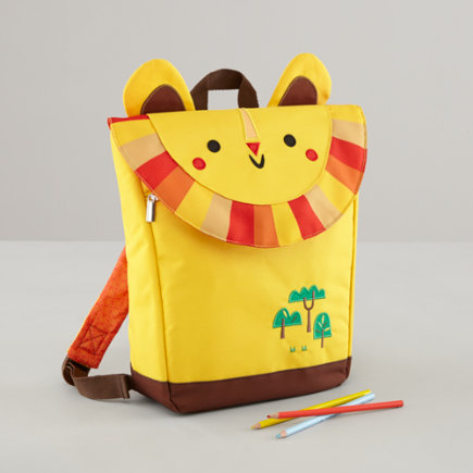 Teachers Pet Kids Backpack (Lion) - Yellow Lion Backpack