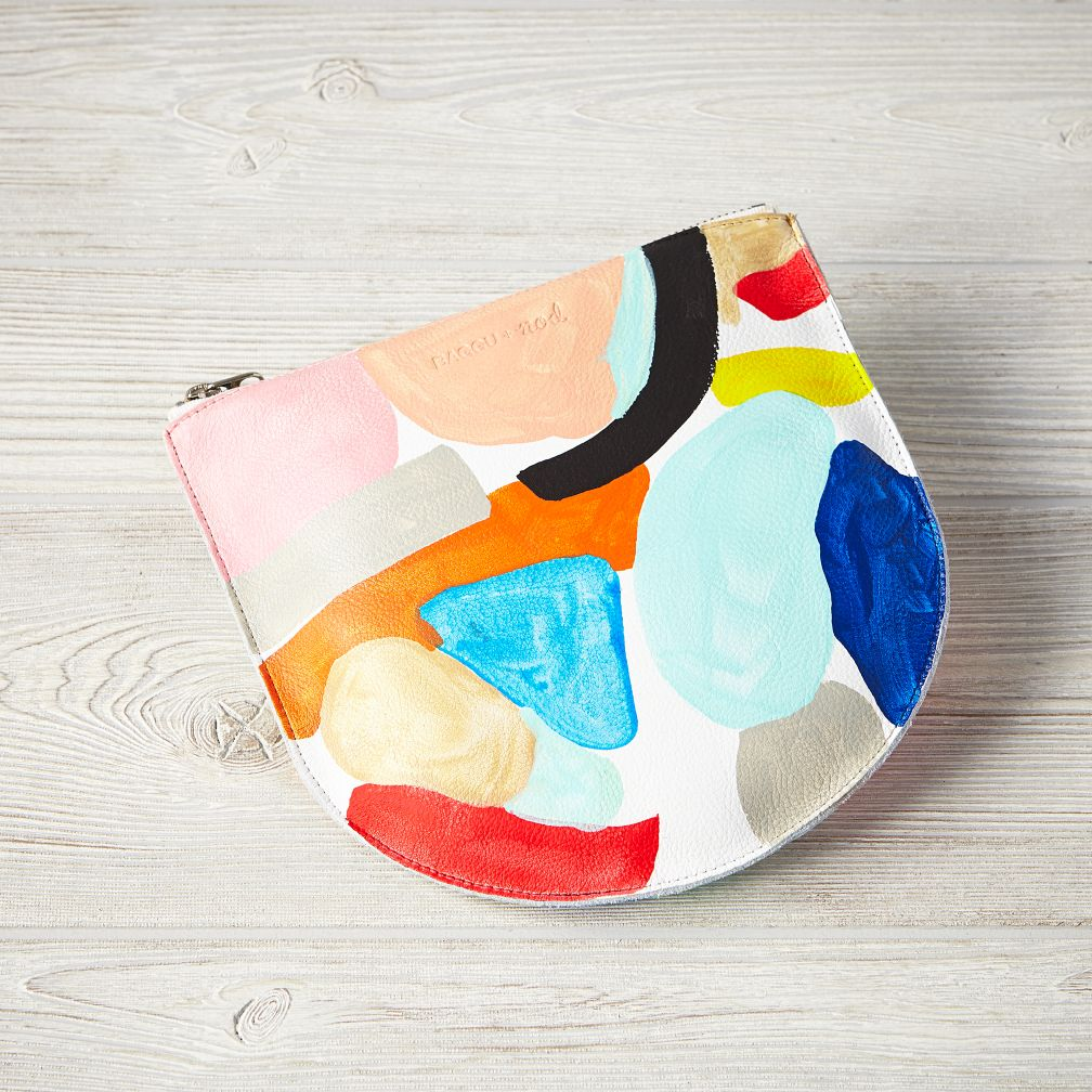 Hand Painted Baggu Pouch (White)