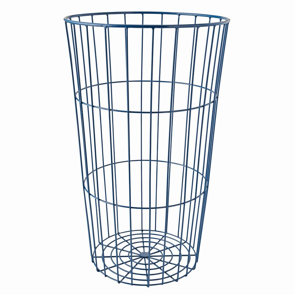 Flea Market Dark Blue Wire Ball Bin