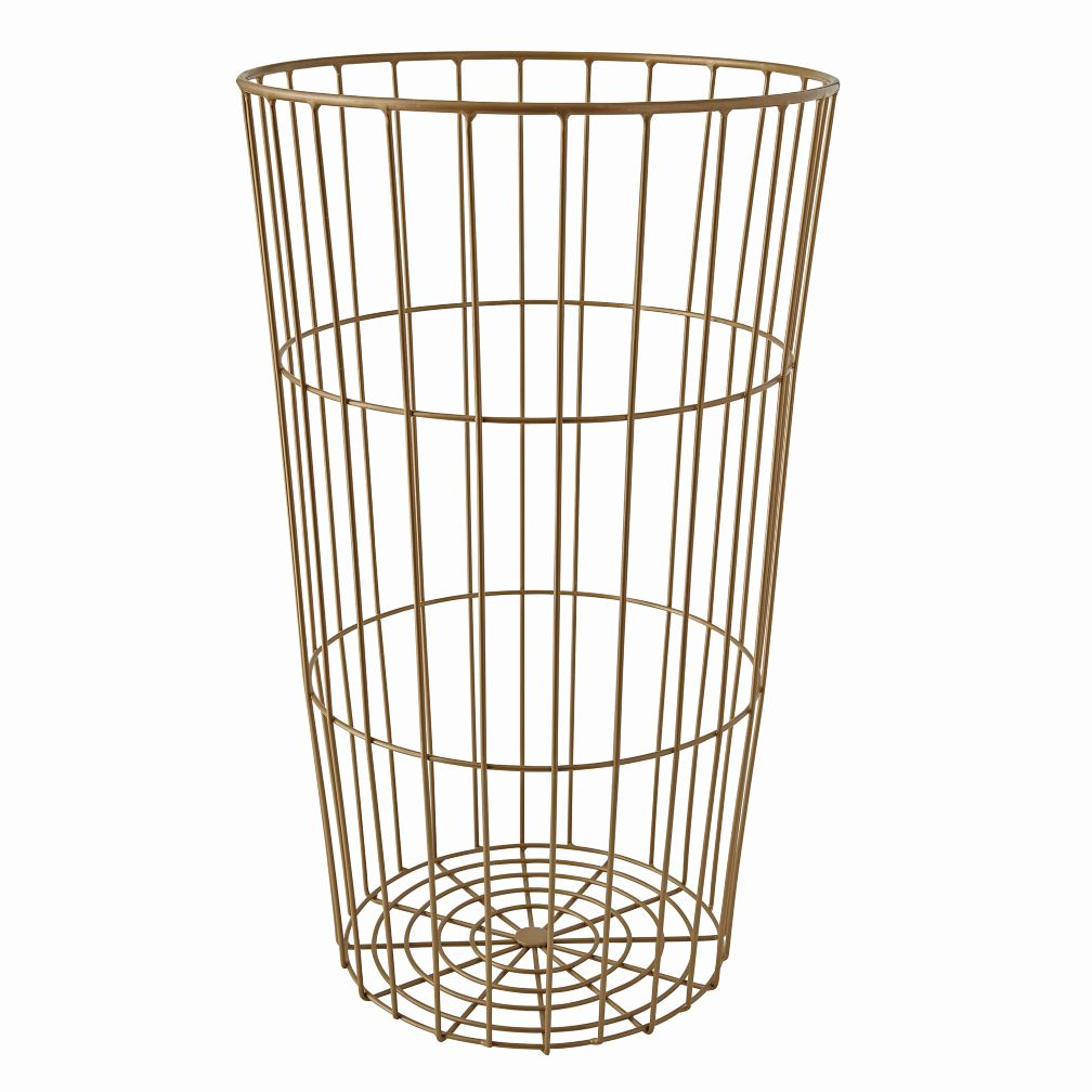 Flea Market Gold Wire Ball Bin