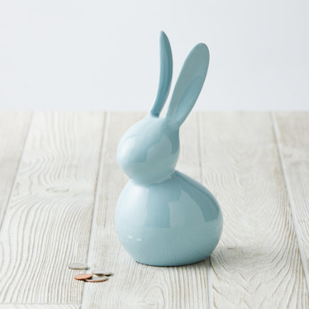 Blue Feed the Bunny Bank