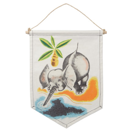 Little Golden Books decor Elephant Wall Banner