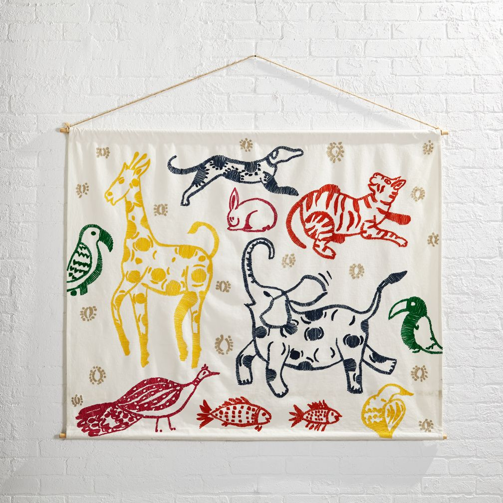 Canvas Menagerie Mural Banner