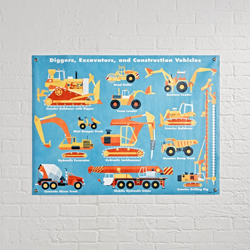 Construction Vehicles Banner