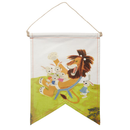 Little Golden Books decor Lion Wall Banner