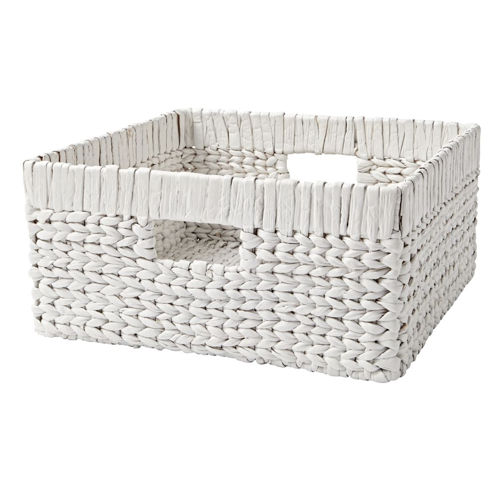Wonderful Wicker White Large Changing Table Basket