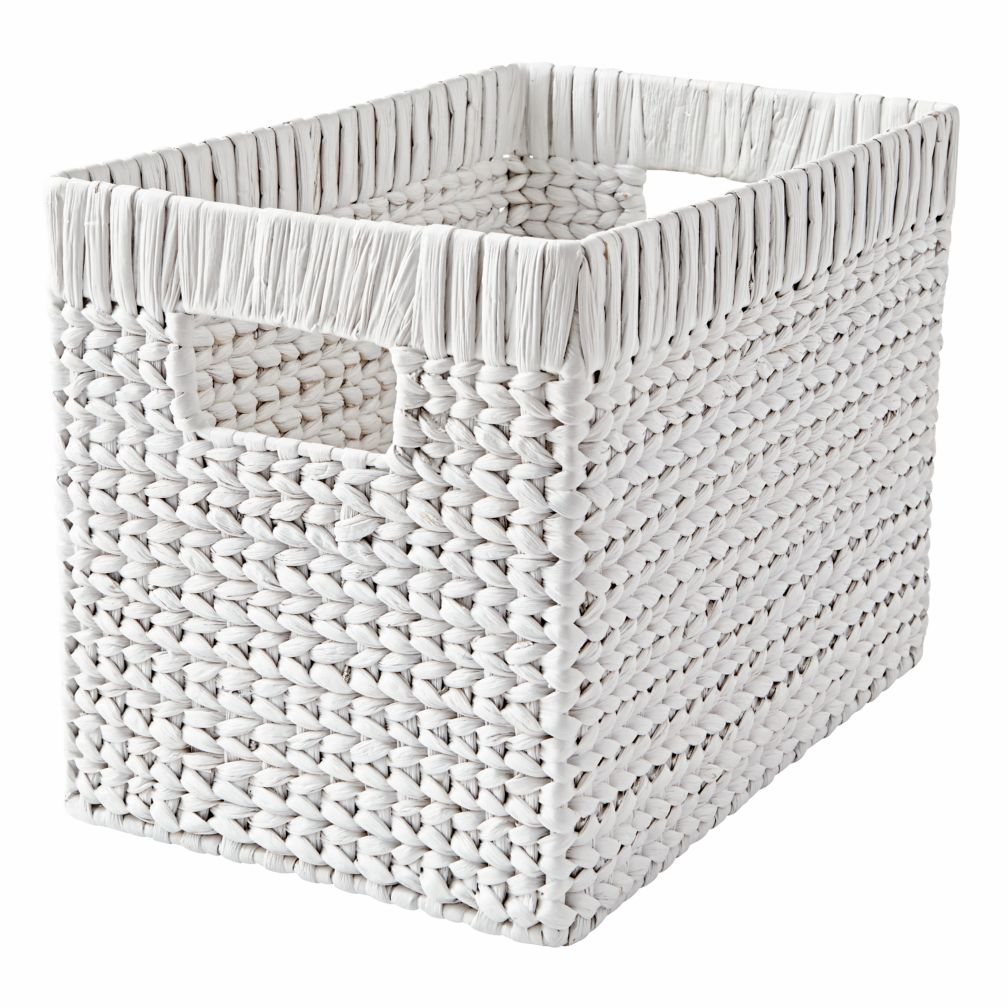 Wonderful Wicker White Blake Basket