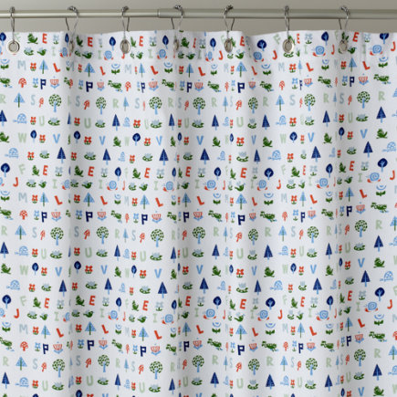 Kids Shower Curtains: Frog Patterned Shower Curtain   Froggy Shower Curtain