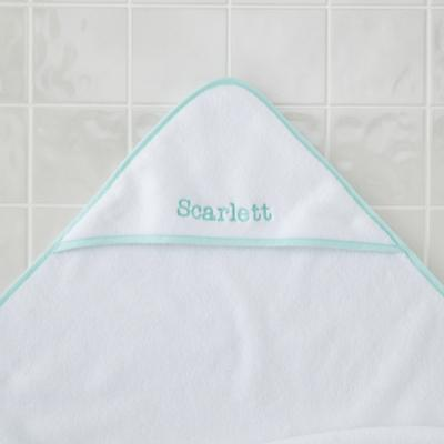 Personalized Fresh Start Hooded Towel (Mint)