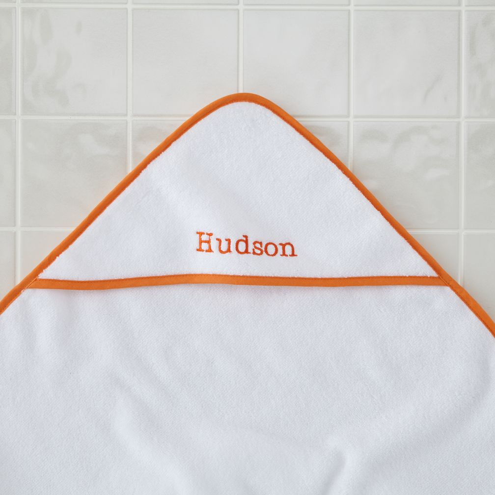 Personalized Fresh Start Hooded Towel (Orange)
