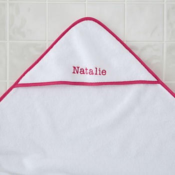 Personalized Fresh Start Hooded Towel (Pink)
