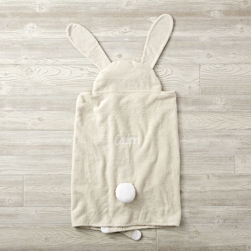 Personalized Petting Zoo Bunny Hooded Towel