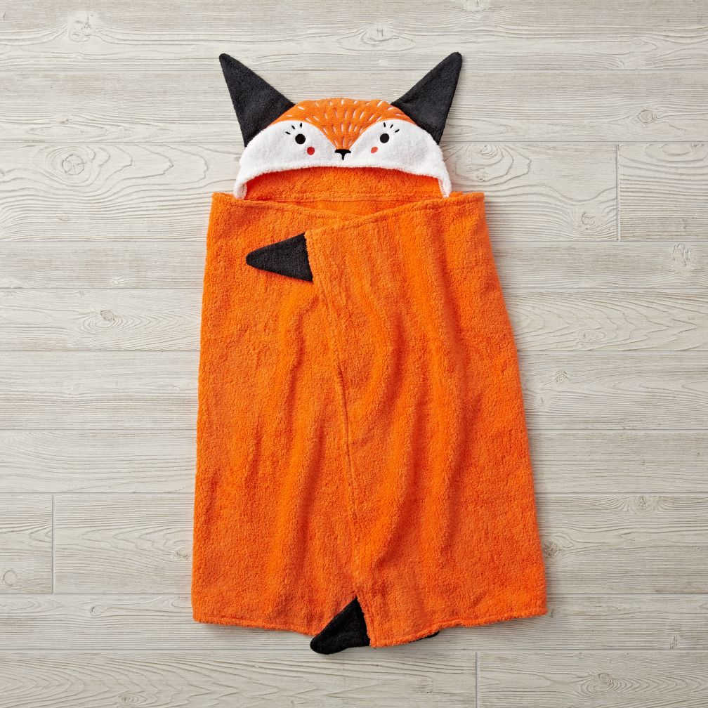 Fox Petting Zoo Hooded Towel The Land Of Nod
