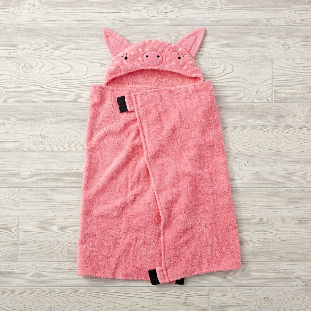 Petting Zoo Pig Hooded Towel
