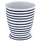 Maritime Blue Stripe Trash Can