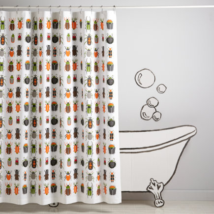 Best Bugs Kids Shower Curtain - Best Bugs Shower Curtain