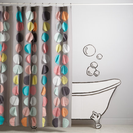 Confetti Party Kids Shower Curtain - Confetti Party Shower Curtain