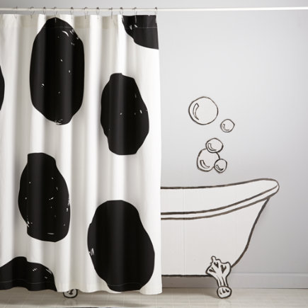Polka Dot Kids Shower Curtain - Nice Spot Shower Curtain