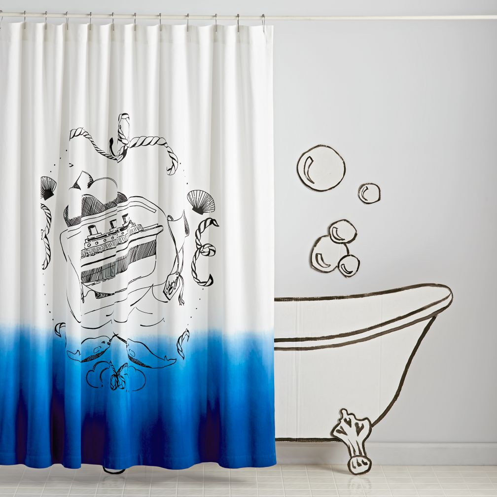 Ship in a Bottle Shower Curtain