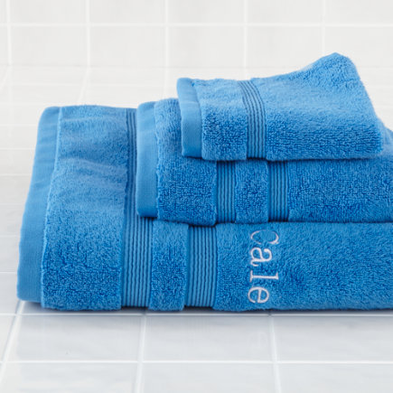 Personalized Blue Fresh Start Bath Towel
