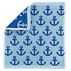 Blue Maritime Washcloth